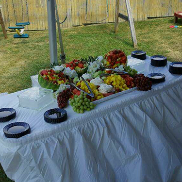 Fruit Catering Setup