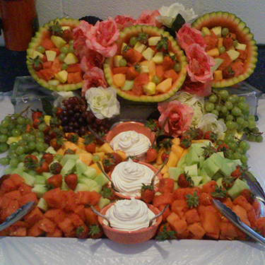 Fruit Setup for Catered Event