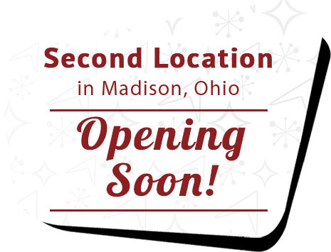 Second location in Madison, Ohio Opening Soon!